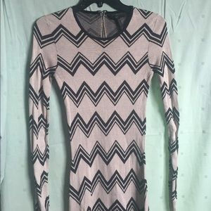 BCBG Max Azria chevron print dress
